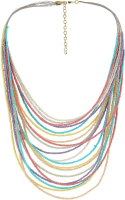 Eastern Roots Color Spark Glass Necklace
