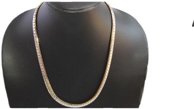 Anvi Jewellers White Gold Plated Brass Chain