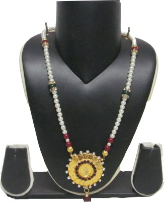 Swapnagandha Jewellery Yellow Gold Plated Mother of Pearl Choker
