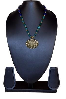 Needle Kraft Garnet, Agate Stone Necklace