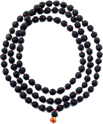 Moksha Original Black Rudraksha 108+1 Beads, 5 Mukhi. Wood Necklace at flipkart