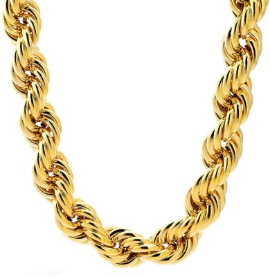 Anvi Jewellers 22K Yellow Gold Plated Brass Chain