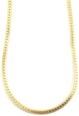 Seeyara smooth finish touch 22K Yellow Gold Plated Brass Chain