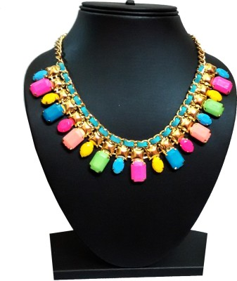 Zoonik Yellow Gold Plated Alloy Necklace