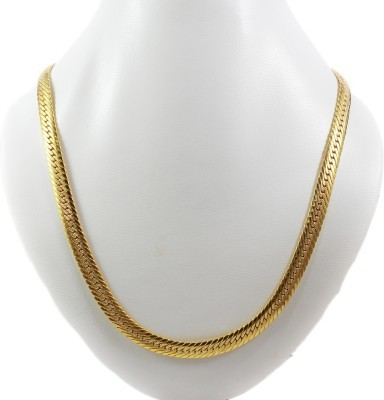 Anvi Jewellers 23K Yellow Gold Plated Brass Chain