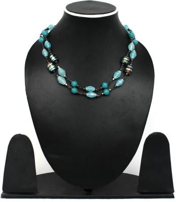 Joyeria Milan Splash Beaded Resin Necklace
