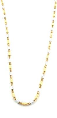 Seeyara gold & silver tone 22K Yellow Gold Plated Brass Chain