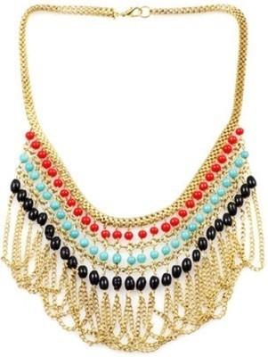 Minha Beads Metal Necklace