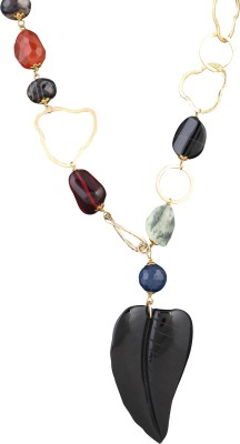 Idiotheory Crystal Brass Necklace