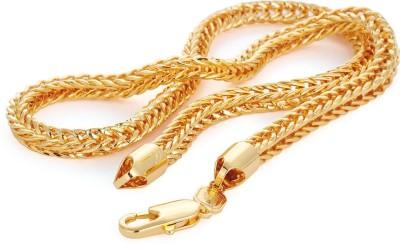 MAGIC STONES 23K Yellow Gold Plated Brass Chain