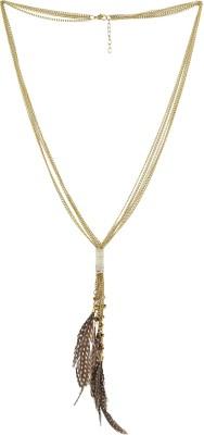 Eastern Roots Tasseled Metal, Jute Necklace