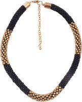 Adrika Beaded Black and Gold Color - 545 Acrylic Necklace best price on Flipkart @ Rs. 263