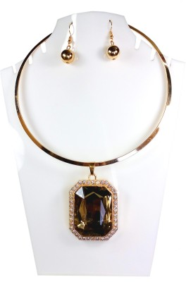 AVSM Creations Big Stone Necklace Alloy Necklace