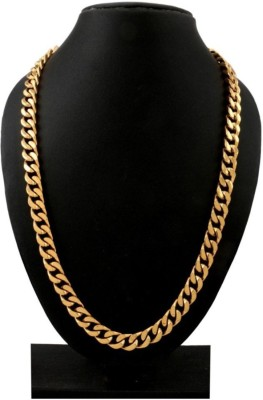 Spangel Fashion Yellow Gold Plated Brass Chain