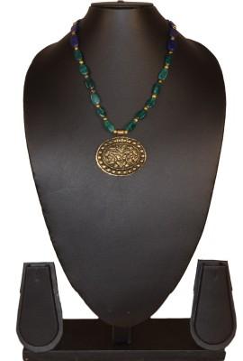 Needle Kraft Lapis Lazuli Stone Necklace