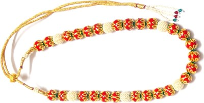 Prakash Jewellers Pearl, Jade 22K Yellow Gold Plated Alloy Necklace