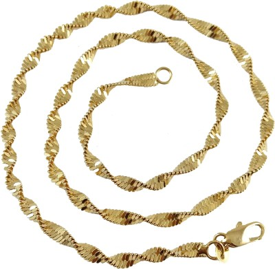Ammvi Classic Snake Pattern Sleek Gold Foamed for Men Brass Chain