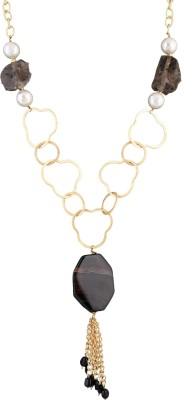 Idiotheory Onyx Brass Necklace