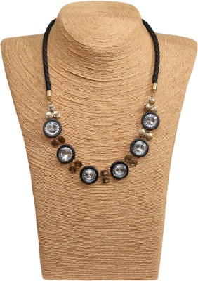 Outdazzle Designer Pearl with Earings Metal Necklace Set