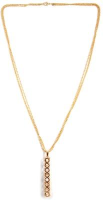 Zahra Jani ZJ Solitaire Bar Necklace Metal Chain