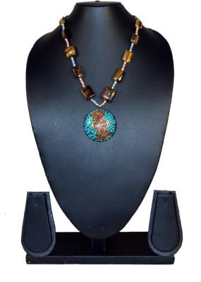 Needle Kraft Cat,s Eye Stone Necklace