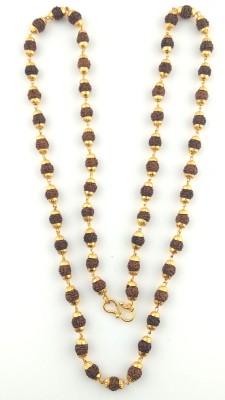 Seeyara golden thread rudraksh 21K Yellow Gold Plated Brass Chain
