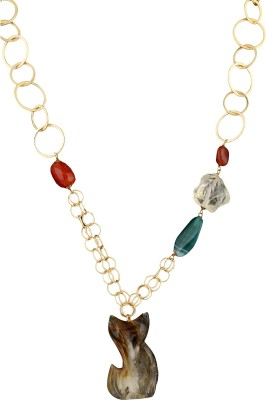 Idiotheory Agate Brass Necklace