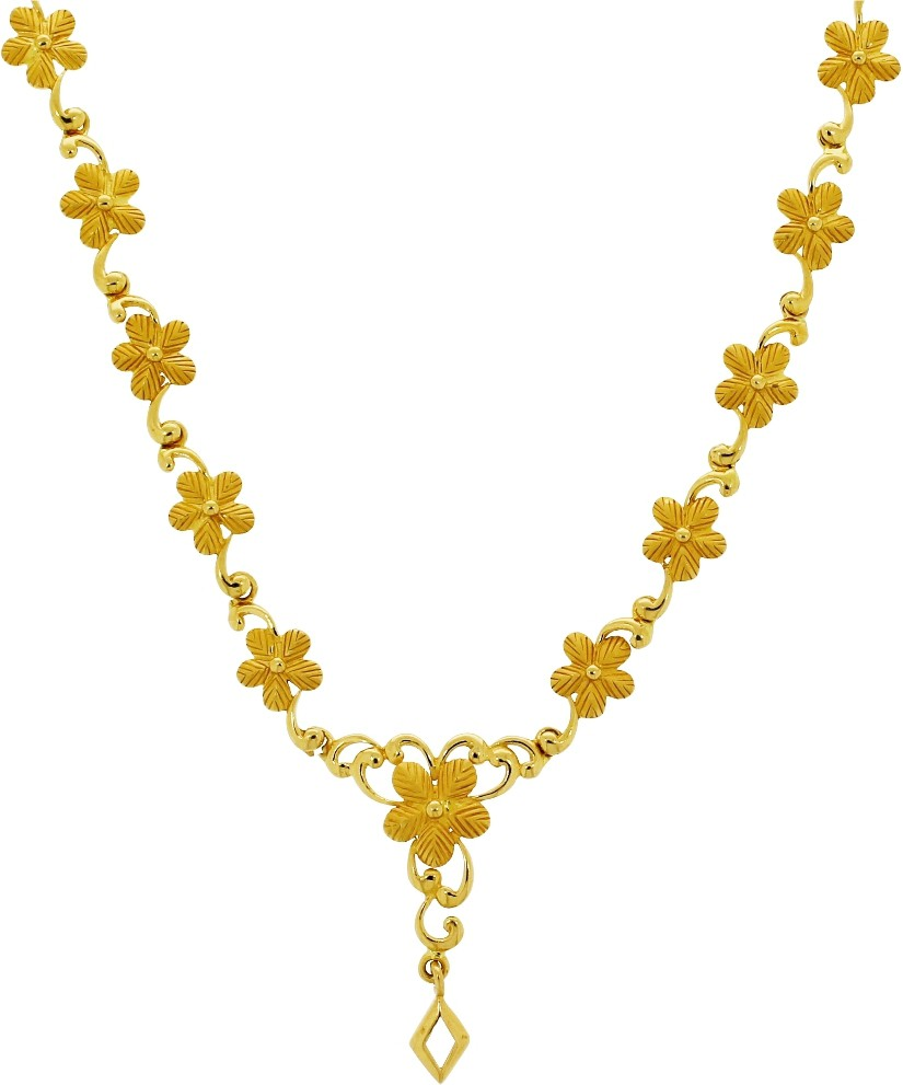 Kalyan Jewellers Moulding Flower Gold Necklace in Kurnool, Kurnool ...