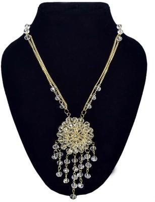 minha Crystal Brass Plated Crystal Chain