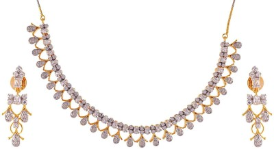 Enzy Rhodium Plated Alloy Necklace Set at flipkart