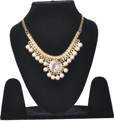 Minha Mother of Pearl Brass Plated Metal, Mother of Pearl Necklace
