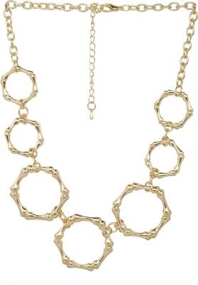 ToniQ ToniQ Gold Princess Length Metal Necklace