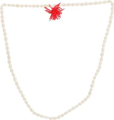Bhagwati Enterprises White Moti Mala Plastic Necklace