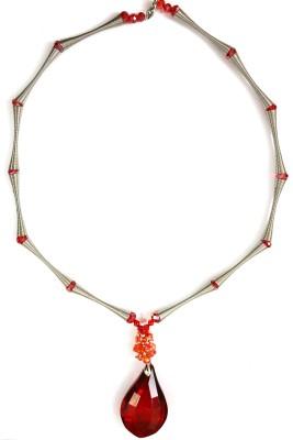 Jiya Fashion Pretties Crystal, Stainless Steel Necklace