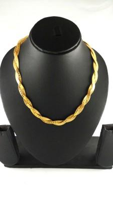 Italian Fashion Royal Yellow Gold Plated Brass Chain