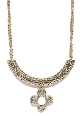Dressberry Crystal Enamel Plated Metal Necklace at flipkart