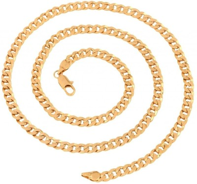 Anvi Jewellers Yellow Gold Plated Brass Chain