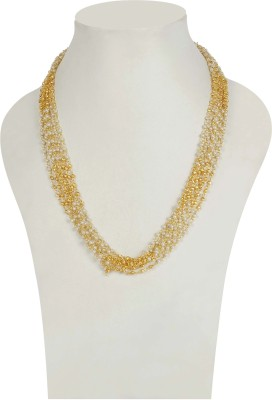 Muchmore Traditional Necklace For Women And Girls For Party And Wedding Occasion Pearl 18K Yellow Gold Plated Alloy Necklace at flipkart