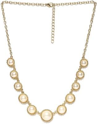 ToniQ ToniQ Gold and Pearl Princess Metal Necklace