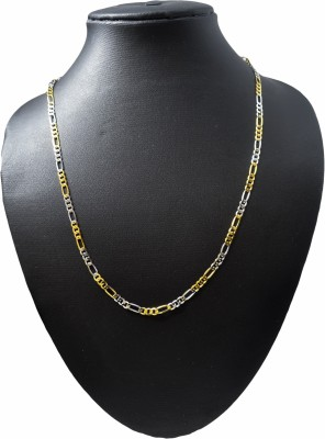 Adarsh Rhodium, Yellow Gold Plated Copper Chain