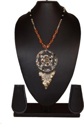 Needle Kraft Carnelian, Agate Stone Necklace