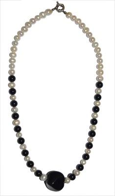 Bird In Blue Memoir - Black Agate Stone Necklace