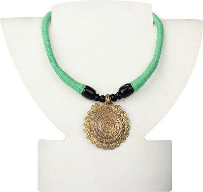 Maaati Dokra Handcrafted Round Brass Necklace
