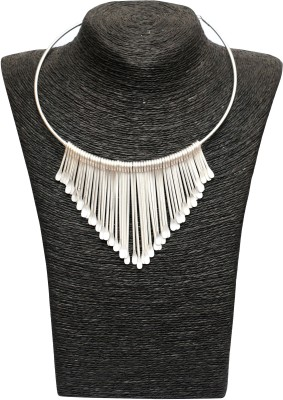 Outdazzle Designer Silver Plated Metal Necklace