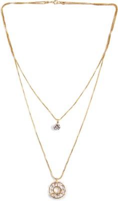 Zahra Jani ZJ Circular Solitaire Necklace Metal Chain