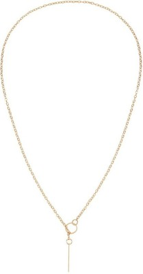 Young & Forever Dainty Lariat Bar Alloy Chain