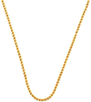 Udhayam Yellow Gold Plated Brass Chain