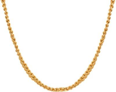 Voylla Artificial Classic Plain Rhodium Plated Brass Chain at flipkart