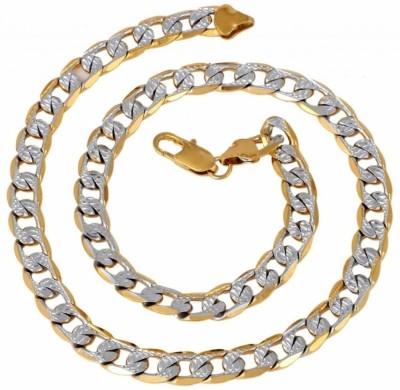 Italian Fashion Hand Made 22K Yellow Gold Plated Brass Chain