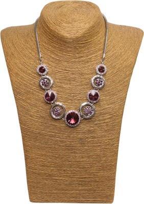 Outdazzle Designer Stone with Earings 01 Metal Necklace Set